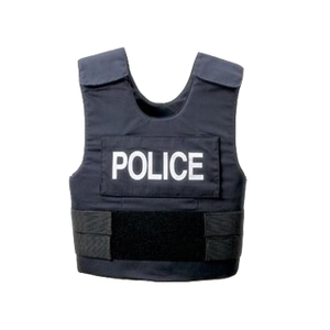 Black Bulletproof Vest with Plate Carrier for Police